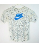 VTG NIKE Men's White Painted Speckled Check Spell Out Single Stitch T-Sh... - $148.50