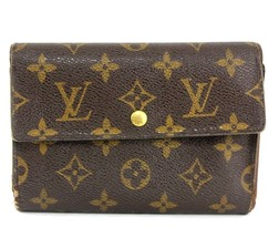 Auth Louis Vuitton Monogram Canvas Porte-Tresor Pochette Passport Trifol... - $141.61