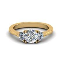 3 Stone White Diamond Round Half Cut Womens Anniversary Ring In Solid 92... - £115.96 GBP