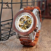 relogio masculino BOBO BIRD Watch Men Automatic Mechanical Watches Wood Vintage  - $109.98