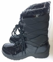 Womens Khombu Angel Black Quilted Winter Lace Up Snow Boots Boot Sz 6 - £59.97 GBP