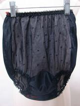 Vintage Black Sheer Textured Double Nylon Double Gusset Lace Trim Pantie... - $134.99