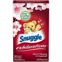 Snuggle Exhilarations Fabric Softener Dryer Sheets, Cherry & Rosewood, 7... - $8.17