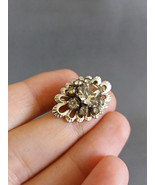 Vintage silver tone brooch with clear crystal Vintage Brooch Vintage sma... - $26.93