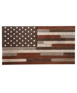 LARGE Slat Wood American USA Flag Wall Art Rustic Country Home Decor 48'... - $183.15