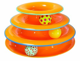 BRANDNEW Tower of Tracks Ball and Track Interactive Toy for Cats Fun Cat... - £17.43 GBP