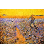 Sower under the Sun by Van Gogh - Framed Canvas Print Ready to Hang - $55.00+