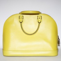 Louis Vuitton Alma BB 2way Epi Leather Lemon Bag Shoulder Yellow Handbag Satchel - $1,153.62