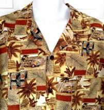 Royal Creations Hawaiian Aloha Shirt Woodies Pineapples Palms Surf Board... - $34.60