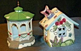 House Village (Candle Holders) AA20-2061 Vintage Pair image 2