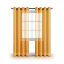 "MEMIAS Window Sheer Curtains with Grommets, 2 Panels, Each Panel, 54"" W ... - $29.03"