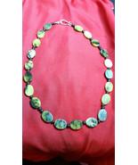 Necklace  Natural Healing Stone beaded Jasper Yellows Greens Boho Chic - $21.78
