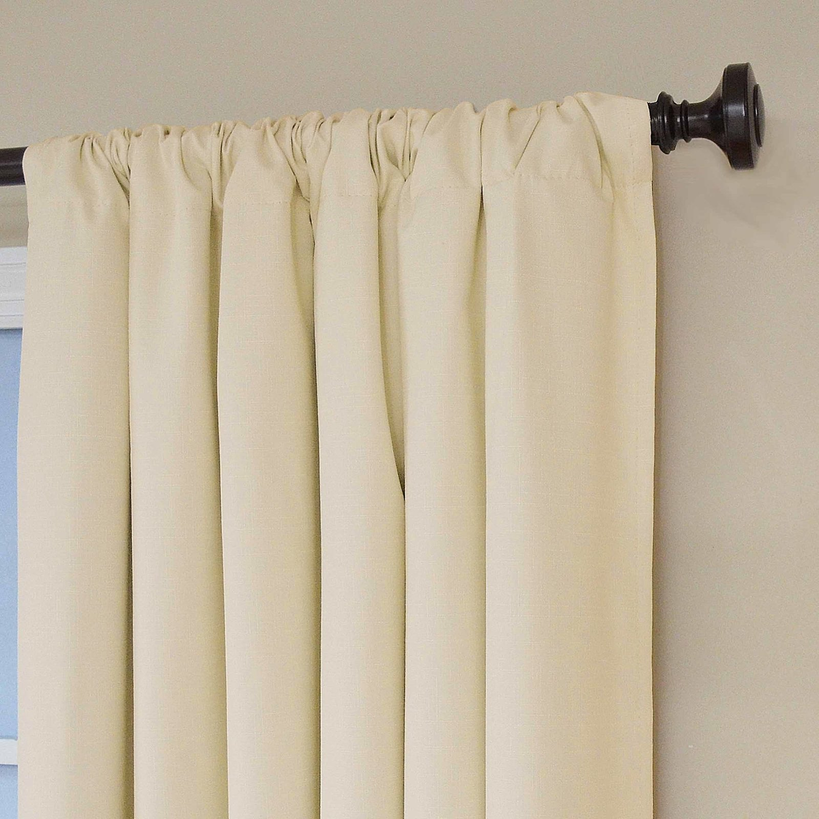 eclipse kendall blackout thermal curtain panel ivory 84