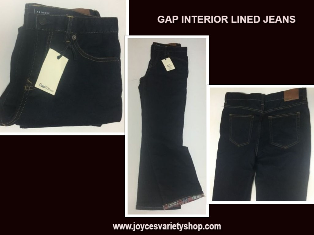 Gap husky lined jeans web collage