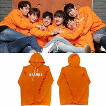 Shinhwa Live Unchanging Orange Cap Hoodie Lee Min-Woo Kim Dongwan Unisex - $25.99