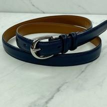 Lauren Ralph Lauren Blue Leather Belt Size Medium Womens - $21.70