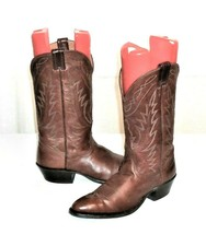 Nocona Boots Men's 9 D Brown Leather Western Boot Made in USA - $49.94