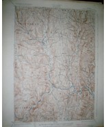 Authentic Vintage USGS Topographic Map Randolph VT USGS 1926/1933 - $23.65