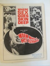Vintage Selected Pictures Warm Nights & Hot Pleasures Ad Mats - $19.79