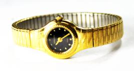 Women's Gruen Quartz Black Dial Wristwatch 17mm Gold Tone - $19.79