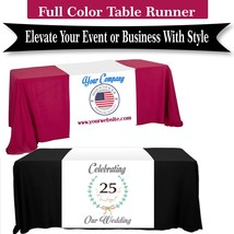 Customize Table Runner Cloth Using your Text and Logo Free design for Business,  image 1