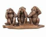 Pacific Giftware See Hear Speak No Evil Monkeys Resin Figurine
