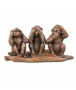Pacific Giftware See Hear Speak No Evil Monkeys Resin Figurine - $34.64
