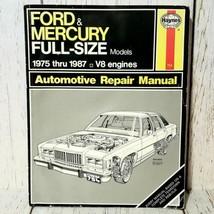 Haynes Ford & Mercury Full Size Models 1975-1987 V8 Automotive Repair Manual - $14.84