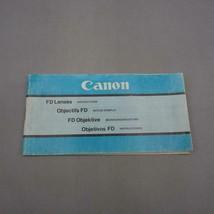 Vintage Canon FD Lenses Instructions Manual / Booklet - $14.84