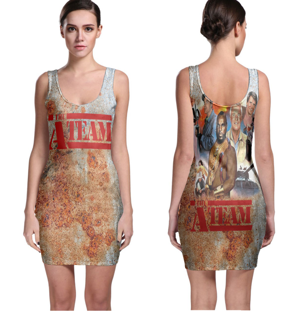 Primary image for The A-Team (80's Tv show) Women Sexy  Bodycon Fit Dress