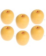 CLASSIC DOLLHOUSE MINIATURES 6 PC YELLOW APPLES SET #IM65508 - $1.99