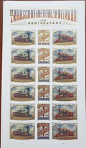 Transcontinental Railroad 150 Anniversary 2019 USPS 18 Forever Stamps Sheet - $14.95