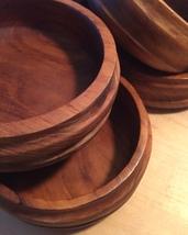 Set of 6 Vintage 60s Kalmar teak wood salad bowls image 2