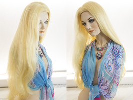 Long Human Hair Mono Top Straight Blonde Brunette Red Remy Wigs  - $888.99