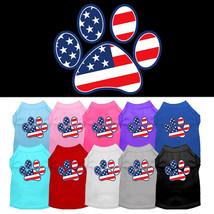 Mirage Patriotic Paw Screen Print Dog Shirts - $20.00