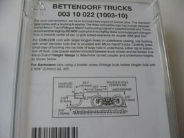 Micro-Trains Stock #00310022  (1003-10) Bettendorf Trucks Med Extension Couplers image 3