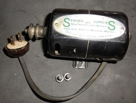 Sewing Supplies Sewing Machine Motor 1/15 HP Wired To Male Plug On T Mou... - $12.50