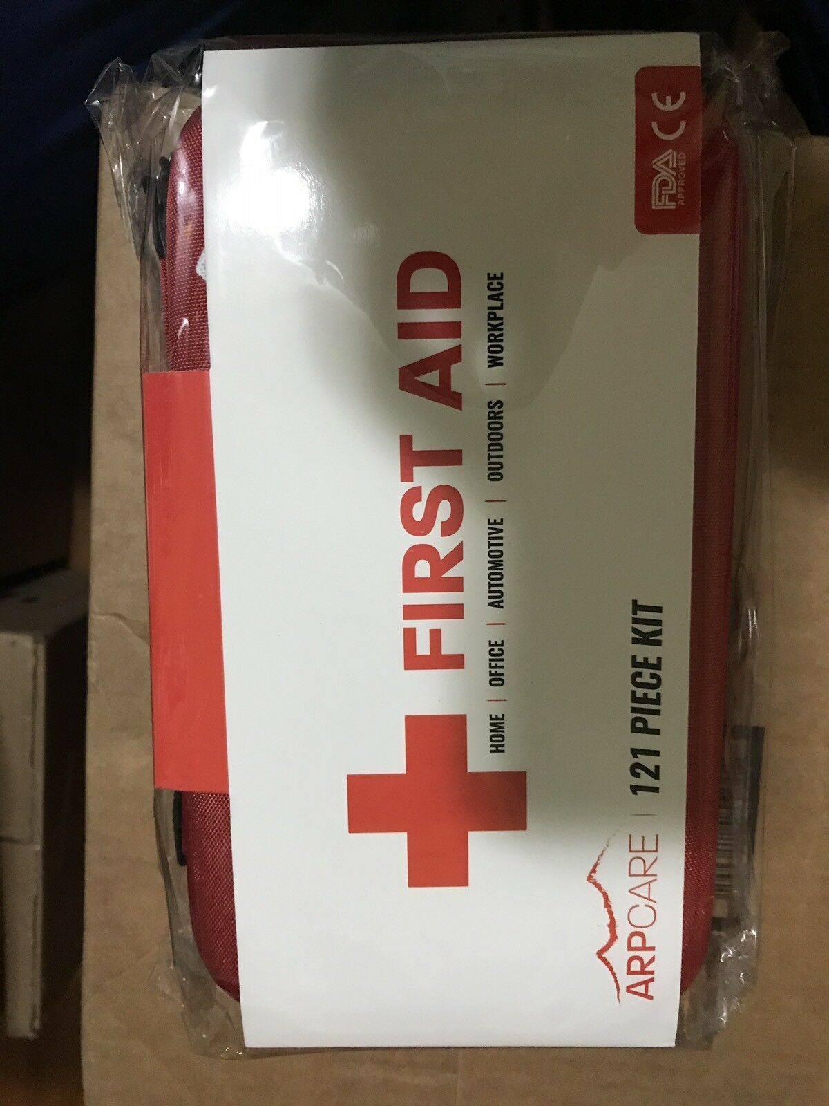 Compact First Aid Medical Kit - 121 Piece - Hard Carry Case Perfect for Home,