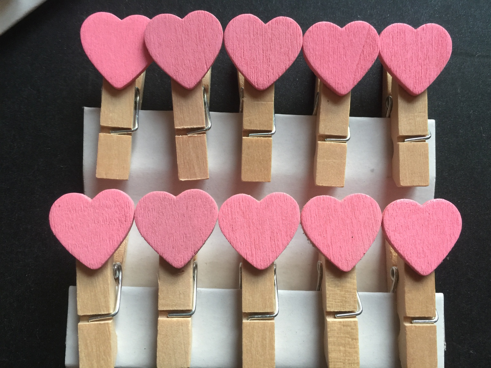 Primary image for 30pcs Pink Heart Wedding Party Favors,Wooden Clip,wooden pegs,Pin Clothespin