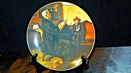 """1977 """"The Doctor and the Doll"""" Norman Rockwell Plate with Box ( Royalwood China) image 4"""