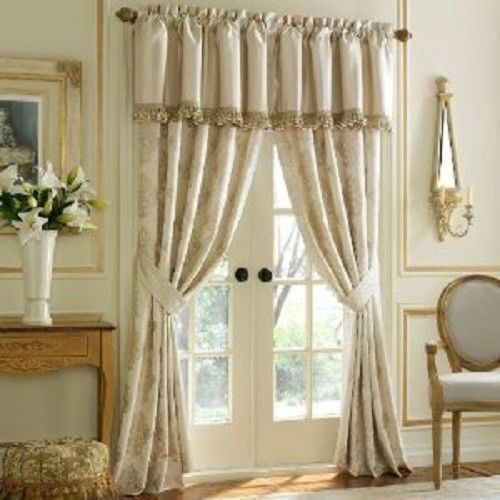 Waterford DUNLOE Platinum Tailored Valances Brushed Fringe New 6avail - $40.69