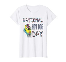 Dog Fashion - National Hot Dog Day Shirt Hot Dog Graphic T-Shirt Wowen - $19.95+
