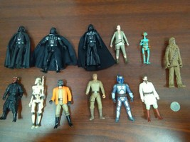 Lot Of Star Wars Hasbro Action Figures Darth Vader, Droids, Luke, Maul, ... - €17,37 EUR