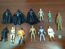 Lot Of Star Wars Hasbro Action Figures Darth Vader, Droids, Luke, Maul, ... - $19.79