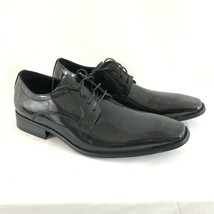 Faranzi Mens Oxford Dress Shoes Faux Leather Shiny Lace Up Size 11 - $36.76