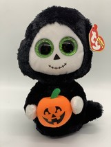 "Ty Beanie Boos TREATS the Halloween Ghost w/ Pumpkin 7"" Glitter Eyes NEW - $13.37"