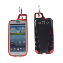 REIKO SAMSUNG GALAXY S3 DROPPROOF WORKOUT HYBRID CASE WITH HOOK IN BLACK... - $9.14