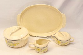 Lenox Temperware Summer Spice Platter Casserole Cream Sugar Lot of 4 - $68.59