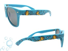 Women's Blue Sunglasses with Hand Painted Yellow Ducks and Bubbles UV 400  - £18.86 GBP