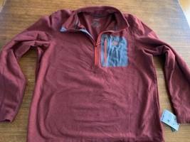 LL Bean North Ridge Fleece XL Men's New NWT Burgundy Red Wicking Layer NEW - $28.49